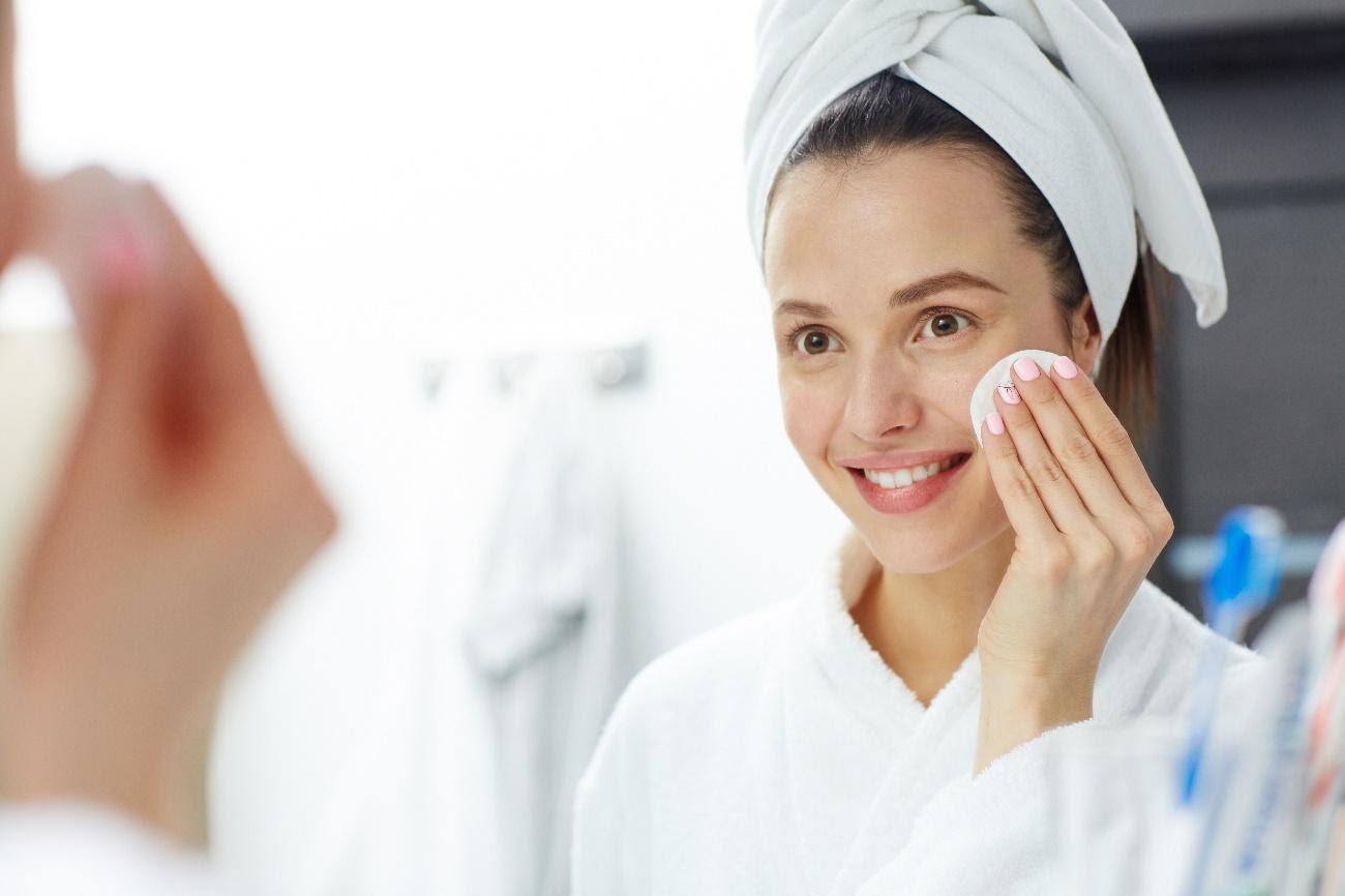 limpeza da pele