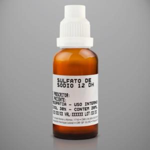 10º Sal de Schüssler – Sulfato de Sódio 12 DH 20ml