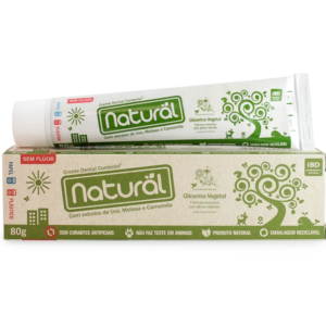 Gel Dental Natural com Extratos de Uva, Melissa e Camomila 80g