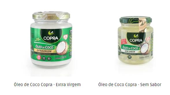 óleo de coco extravirgem copra