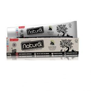 Gel Dental Natural com Extratos de Carvão Ativado, Bambu, Romã e Sálvia – 80g