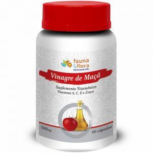 Vinagre de Maçã, Vitamina  A, C, E e Zinco 500mg – 60 cápsulas